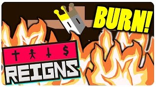 Reigns Game - Meet The Witch, Burn The King?! | Reigns Gameplay (New Update)