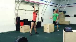 Кроссфит (CrossFit) соревнования. Демонстрационное видео выполнения второго комплекса