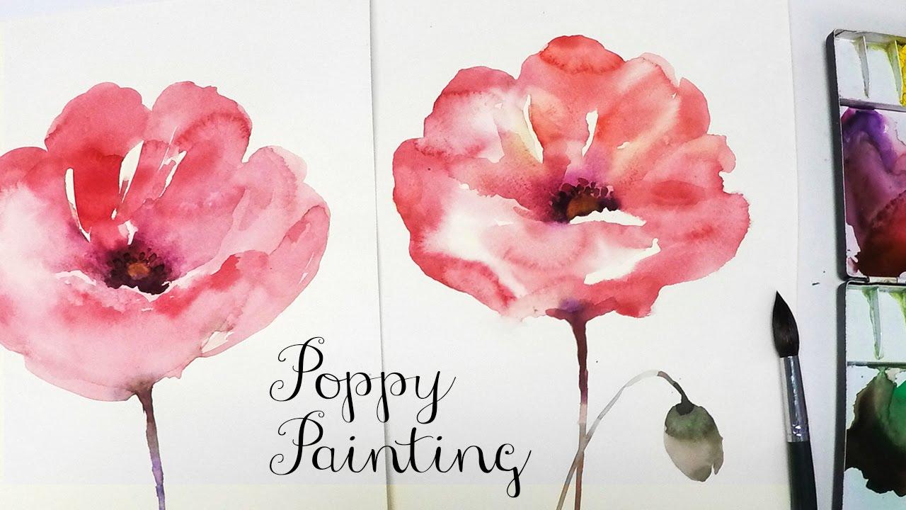 Lvl3 poppy watercolor painting 1 youtube lvl3 poppy watercolor painting 1 youtube mightylinksfo Gallery