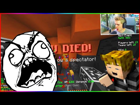 """JUST A LITTLE RAGE..."" Minecraft ` Hypixel Team Skywars!"