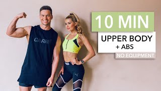 10 MIN UPPER BODY + ABS - for arms, chest and core with DJ Joel Corry / No Equipment I Pamela Reif