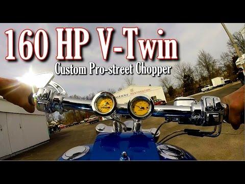 Custom Chopper 140 Cubic Inch V-Twin 160 HP 6spd Baker Trans