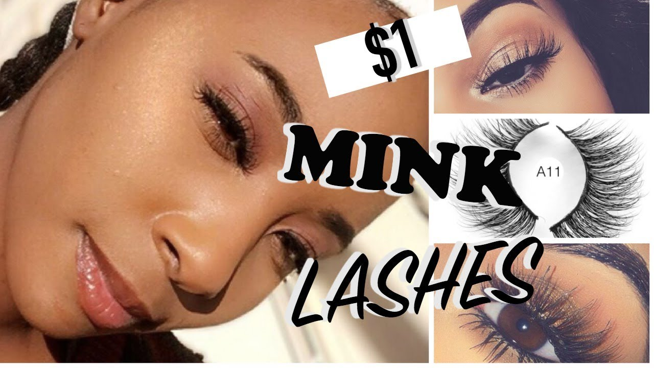 Affordable Mink Lashes - $1 Aliexpress Haul - YouTube