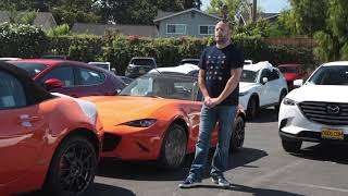 Happy Car Buyer of a 30th Anniversary Mazda MX-5 Miata