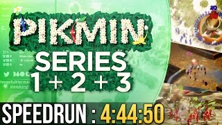 Pikmin Series Speedrun in 4:44:50 (Pikmin 1+2+3)