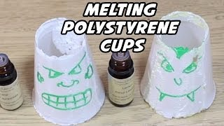 Melting Polystyrene Cups