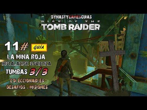 Rise of the Tomb Raider 11# Tumba Mina Roja 1/1-Modo Superviviente Guía 100% Español