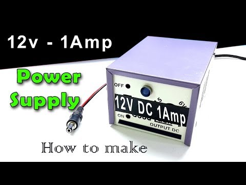 12 Volt 1 Amp power supply | Ac to Dc power adapter | How to make at home