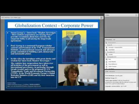 TPP, Free Trade and Globalization by Janet M. Eaton