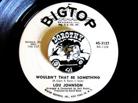 Lou Johnson - Wouldn't That Be Something