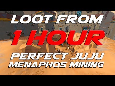 Runescape 3 - Loot From 1 Hour Of Mining With Perfect Juju Mining Potion (MENAPHOS)