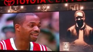 Houston Rockets honor Tracy McGrady