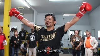 JOE CORTEZ GIVES PACQUIAO ADVICE ON THURMAN FIGHT, PACQUIAO HAS EYE OF THE TIGER