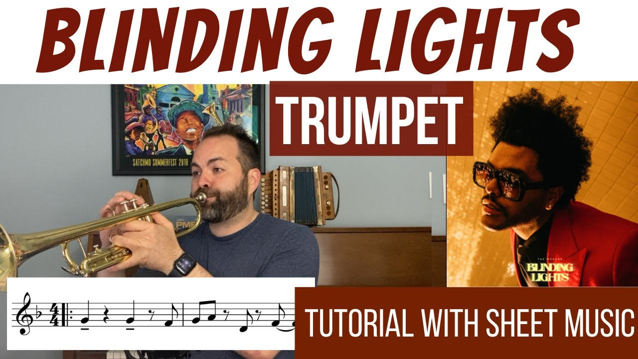 Blinding Lights by The Weeknd - TRUMPET Tutorial
