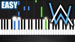 Alan Walker - Faded - EASY Piano Tutorial by PlutaX