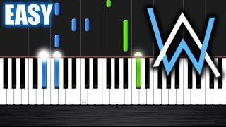 Alan Walker Faded EASY Piano Tutorial by PlutaX