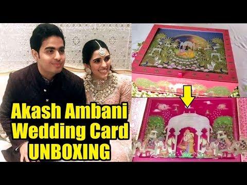 Akash Ambani Wedding Card Unboxing Video   Mukesh Ambani Son Wedding Card