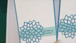 May Flowers Wedding Card Case Card Class #168 Stampin up Stamps.