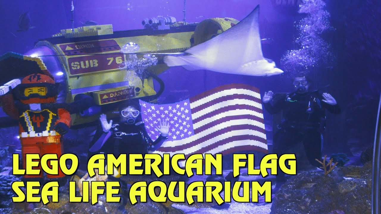 Celebrate Independence Day with LEGO American Flag Model at Sea Life Aquarium - Legoland California