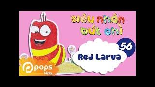 Hướng Dẫn Vẽ Con Sâu Larva - Siêu Nhân Bút Chì - Tập 56 - How To draw Red Larva (from Larva)
