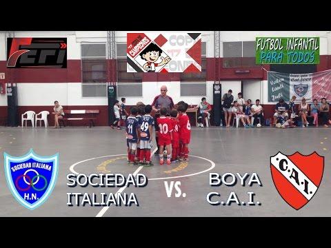 LIGA FEFI ! COPA DE CAMPEONES 2017 ! SOCIEDAD ITALIANA VS BOYA CAI ! CAT.2009 !
