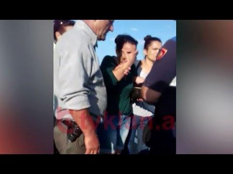 Video ekskluzive/ Momentet e arrestimit te Violeta Donajt qe ekzekutoi burrin me pistolete