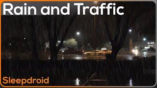 ►City Rain at Night. Night Traffic + Rain HD Video. Rain Sounds for Sleeping. Fall asleep fast! Rain