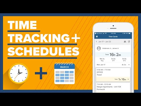 Time tracking + scheduling