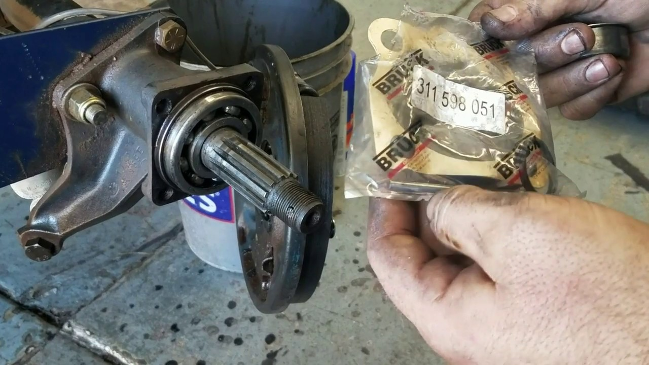 VW swing axle seal repair