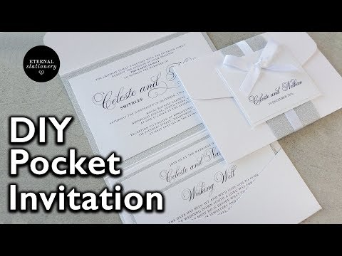 How to make your own modern pocket folio wedding invitations | DIY invitation