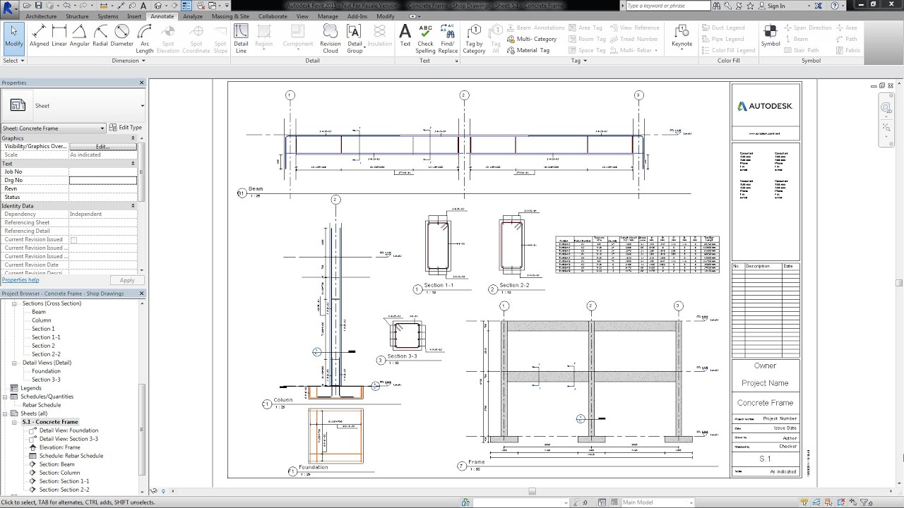 Shop drawings and rebar schedules in autodesk revit 2015 youtube shop drawings and rebar schedules in autodesk revit 2015 malvernweather Images