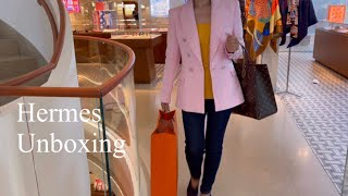 뉴욕 에르메스 쇼핑 언박싱 / 에블린미니, 에르메스 쥬얼리, 남성의류, 모마디자인 와인컵 언박싱
