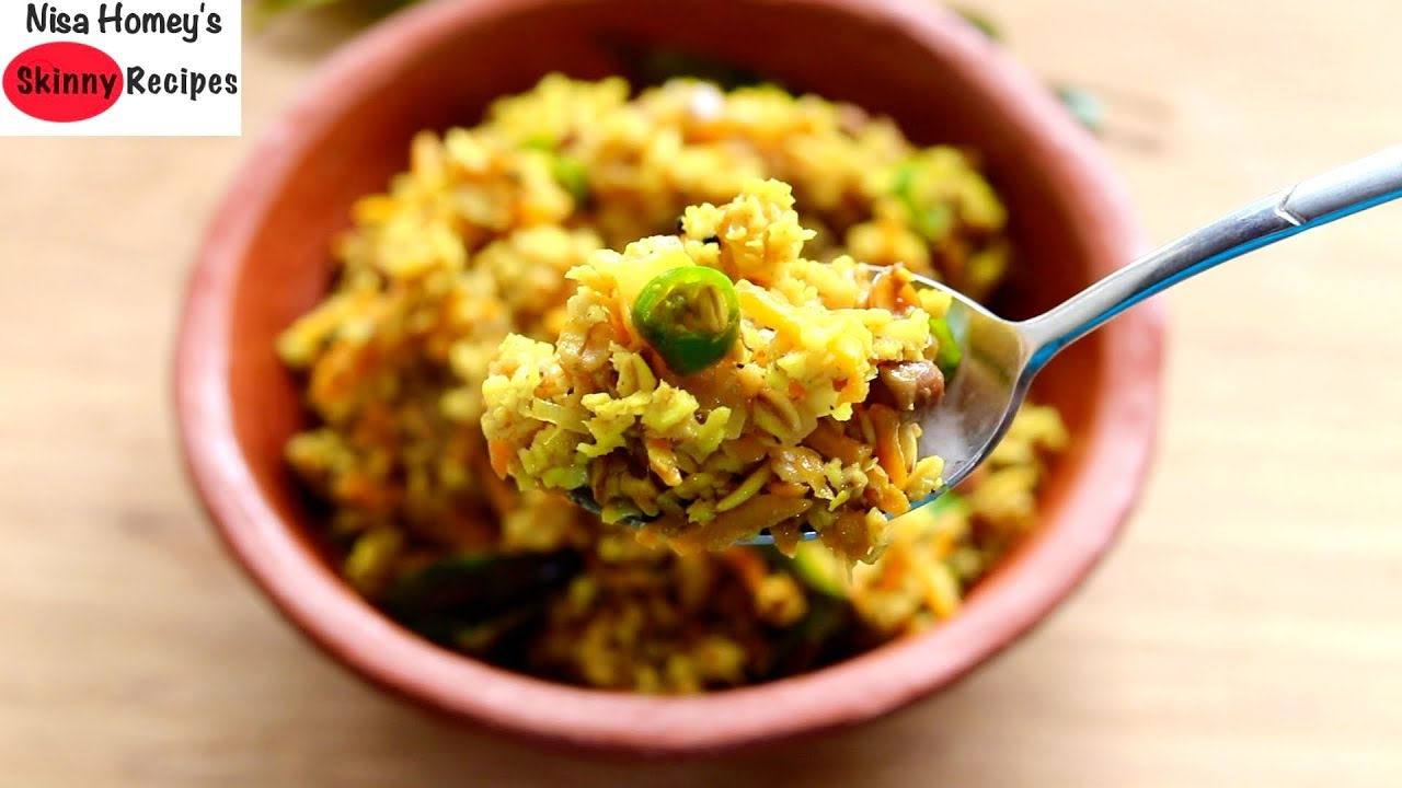 Oats Upma Recipe – Oats Recipes For Weight Loss – Healthy Gluten Free Breakfast | Skinny Recipes