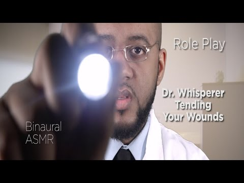 Binaural ASMR | Doctor Role Play | Dr. Whisperer Tending Your Wounds