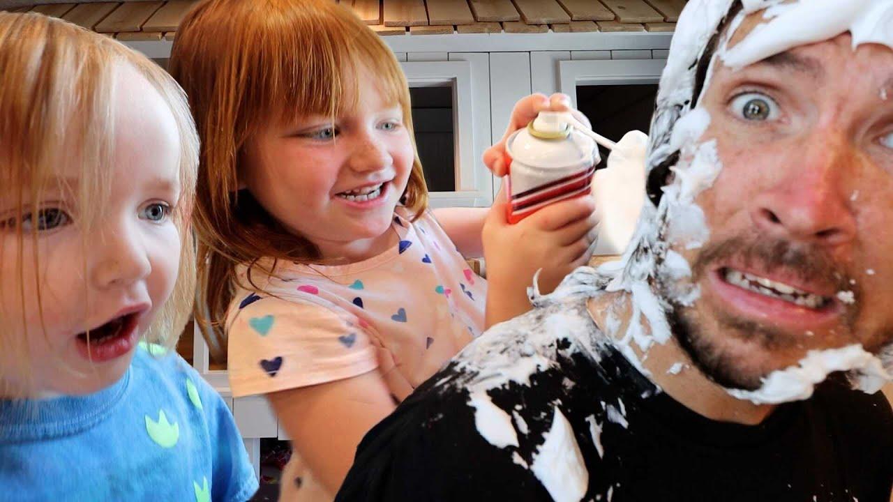 Adley's HAiR SALON and SPA ✂️  Dad gets a Makeover!!  first haircut, shaving cream, and luxury wash! | Tóm tắt các thông tin liên quan đến salon hero chính xác