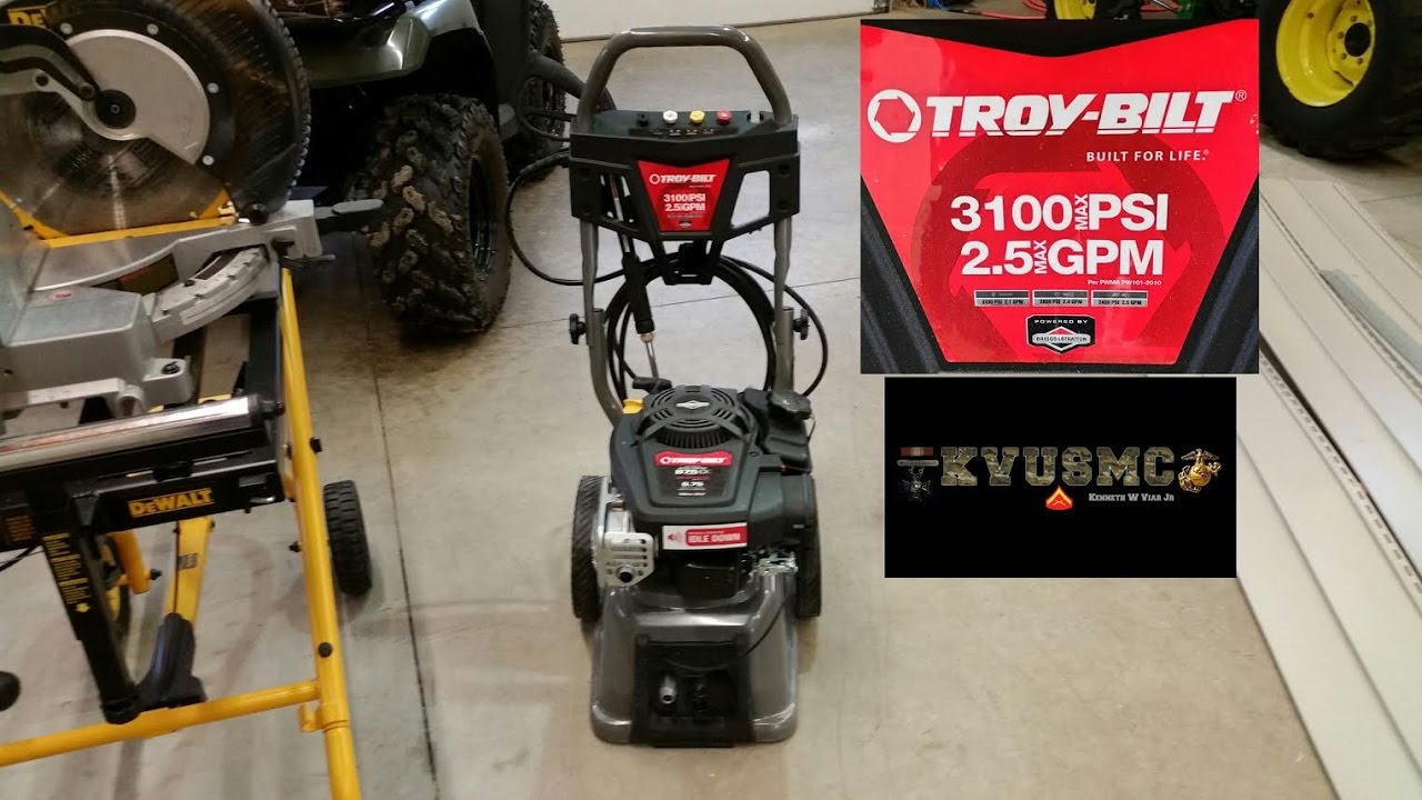 Pressure Washing Your Deck with A Troy- Bilt 3100 PSI Before and After By  KVUSMC