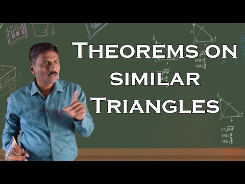 Theorems on similar Triangles