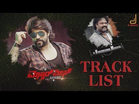 Masterpiece - Track List Teaser | Rocking Star Yash | V Harikrishna | Hombale Films, Manju Mandavya