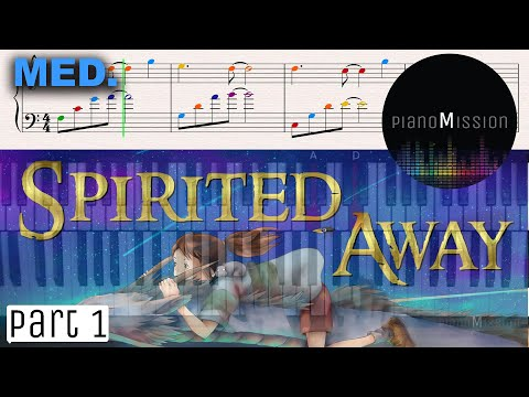 [How to play] ONE SUMMER'S DAY_Spirited away OST (part1) easy piano tutorial with sheets