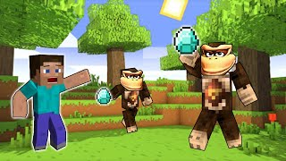 Minecraft but Donkey Kongs STEALS my DIAMONDS?!