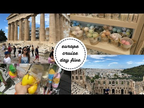 EUROPE CRUISE DAY 5 VLOG: Athens, Greece and Great Shopping!