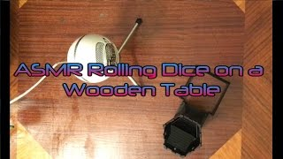 asmr rolling lucky dice on a mahogany table of restful dreams