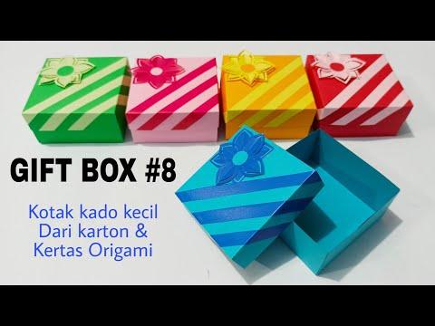 GIFT BOX #8 - Kotak Kado Kecil Dari Kertas Karton Dan Kertas Origami - Kotak Hadiah Kreatif