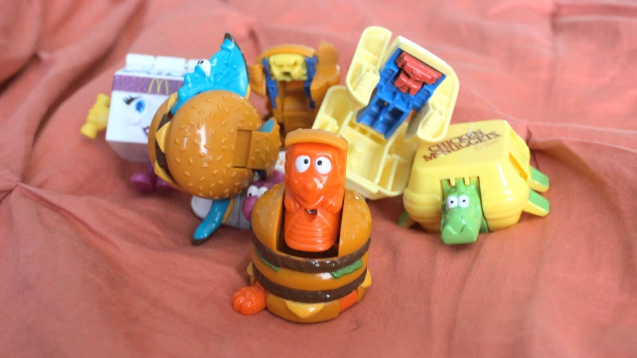 Old mcdonald happy meal toys