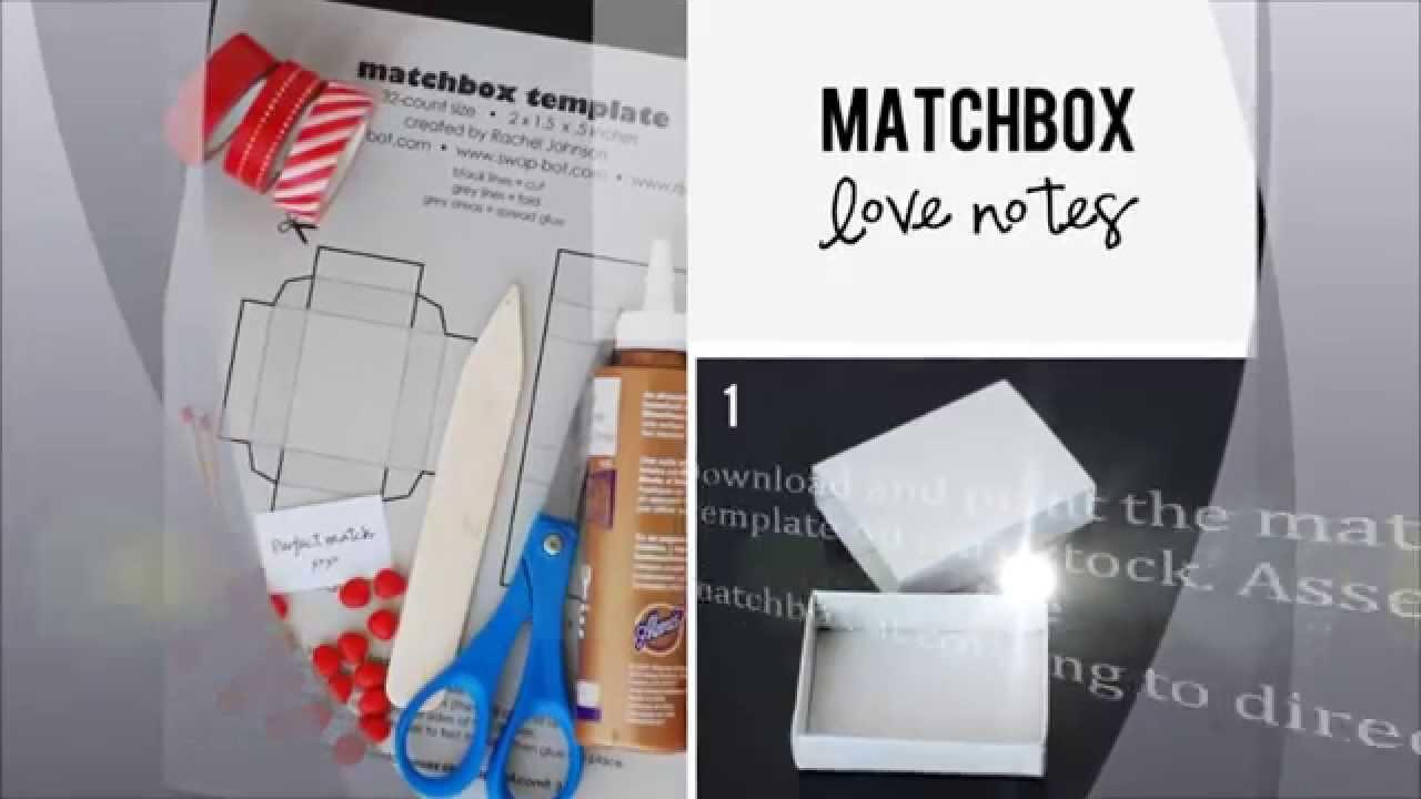 DIY Matchbox Love Notes for boyfriendYouTube