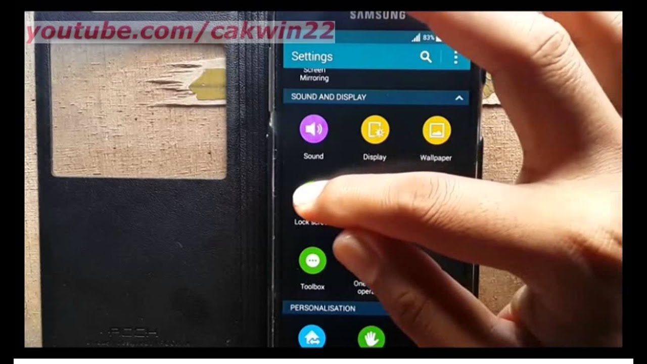 Samsung Galaxy S5 : How to change clock size in lock ...