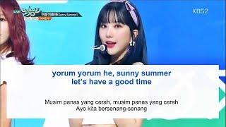 Video Easy Lyric GFRIEND - SUNNY SUMMER by GOMAWO [Indo Sub] download MP3, 3GP, MP4, WEBM, AVI, FLV Agustus 2018