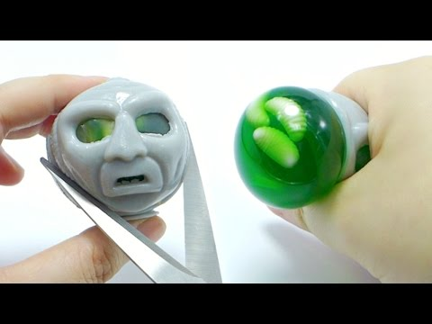 Cut Open Alien Head Squeeze Toy