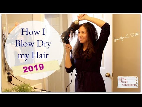 How I Blow Dry My Hair 2019 | Twice Weekly Blow Dry | Jennifer L. Scott