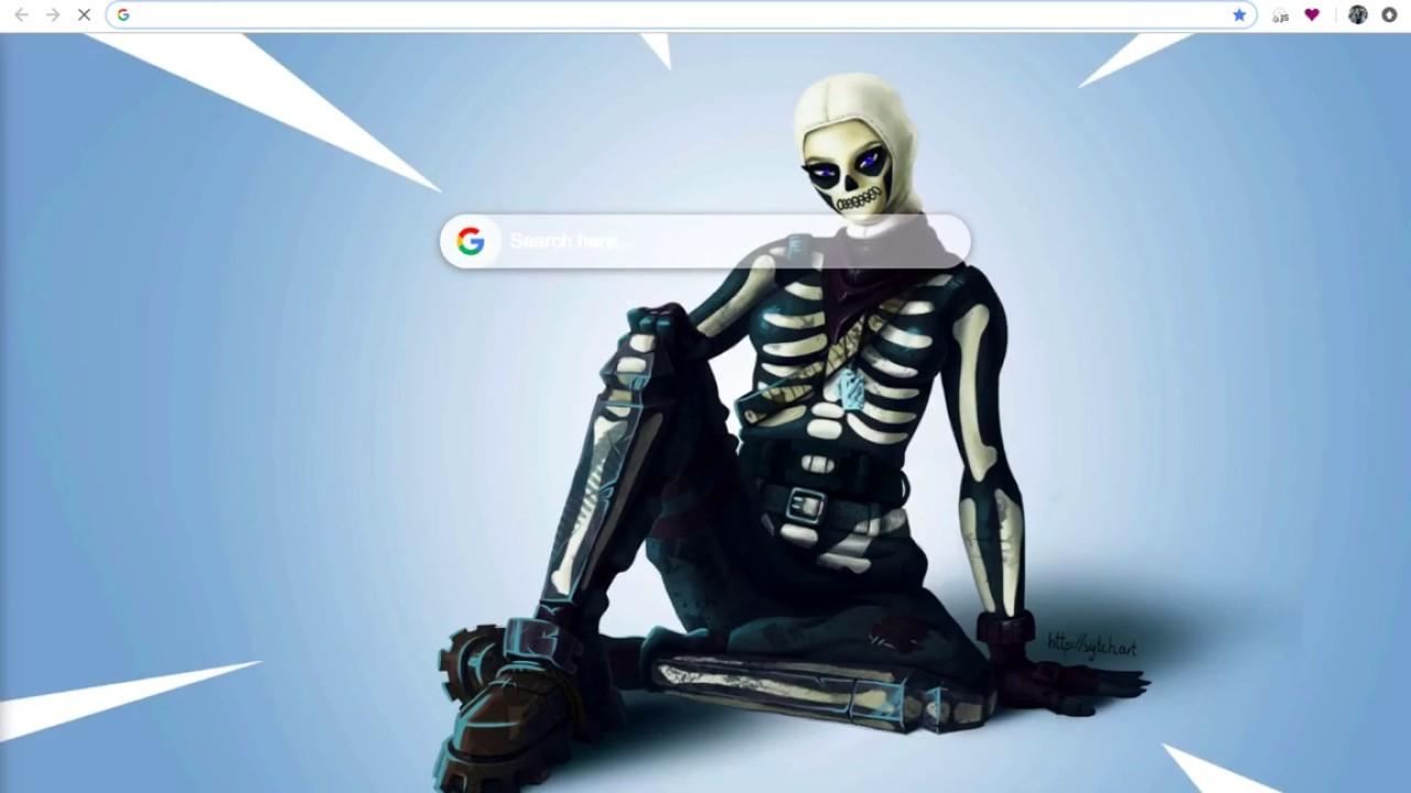 Fortnite Skull Trooper Hd Wallpapers New Tab Youtube